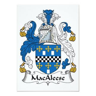 """Escudo de la familia de MacAleese Invitación 5"""" X 7"""""""