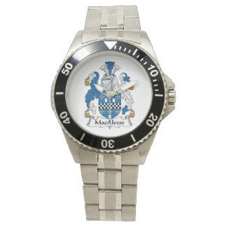 Escudo de la familia de MacAleese Reloj