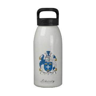 Escudo de la familia de MacArthur Botellas De Agua Reutilizables