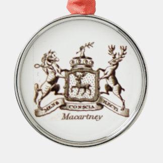 Escudo de la familia de Macartney Adorno Navideño Redondo De Metal