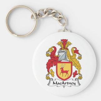 Escudo de la familia de MacArtney Llavero Redondo Tipo Pin