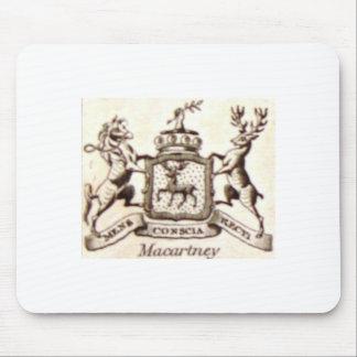 Escudo de la familia de Macartney Mouse Pad