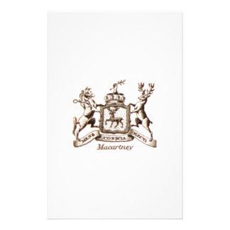 Escudo de la familia de Macartney Papelería De Diseño
