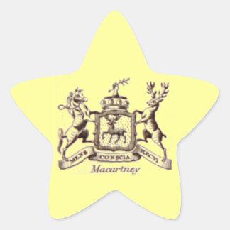 Escudo de la familia de Macartney Pegatina En Forma De Estrella