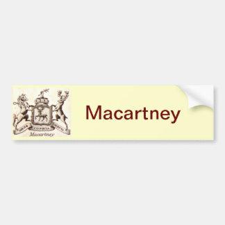 Escudo de la familia de Macartney Pegatina Para Auto