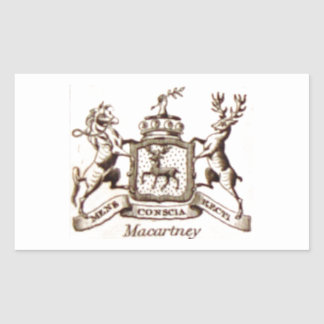 Escudo de la familia de Macartney Pegatina Rectangular