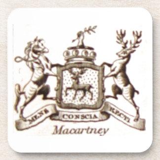 Escudo de la familia de Macartney Posavasos De Bebidas