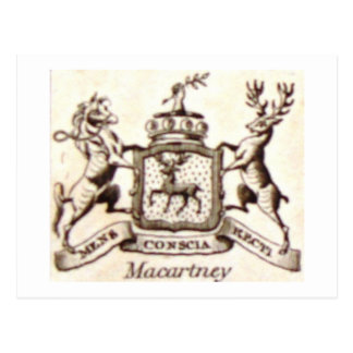 Escudo de la familia de Macartney Postales