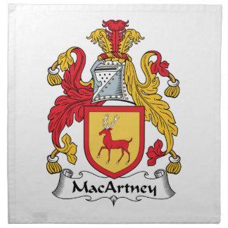 Escudo de la familia de MacArtney Servilletas De Papel