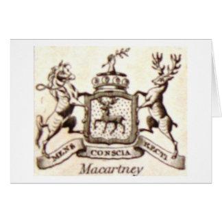 Escudo de la familia de Macartney Tarjeta De Felicitación