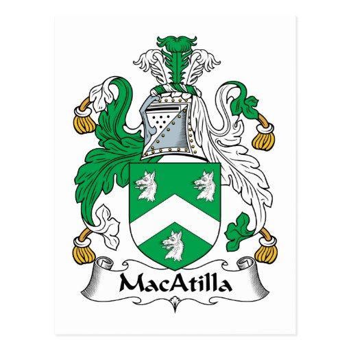 Escudo de la familia de MacAtilla Postal