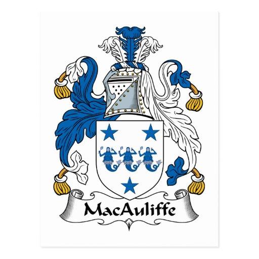 Escudo de la familia de MacAuliffe Postales