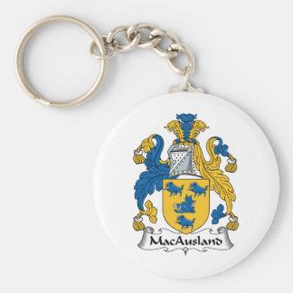 Escudo de la familia de MacAusland Llavero Personalizado