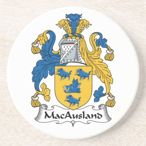 Escudo de la familia de MacAusland Posavasos Diseño