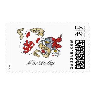 Escudo de la familia de MacAwley Franqueo