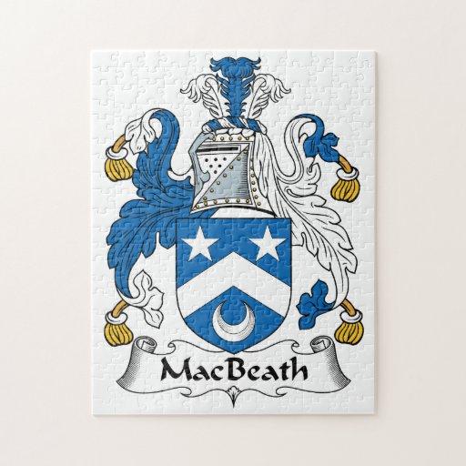 Escudo de la familia de MacBeath Rompecabezas