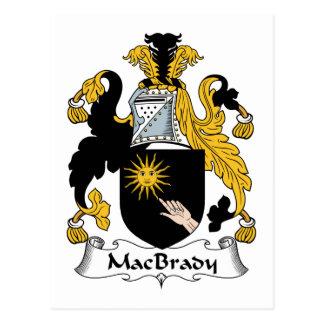 Escudo de la familia de MacBrady Tarjeta Postal