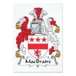 Escudo de la familia de MacBraire Invitación 12,7 X 17,8 Cm