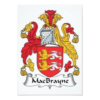 """Escudo de la familia de MacBrayne Invitación 5"""" X 7"""""""