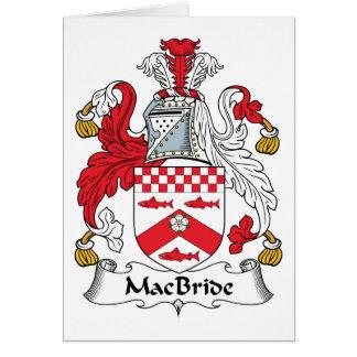 Escudo de la familia de MacBride Felicitaciones