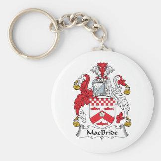 Escudo de la familia de MacBride Llavero Redondo Tipo Pin