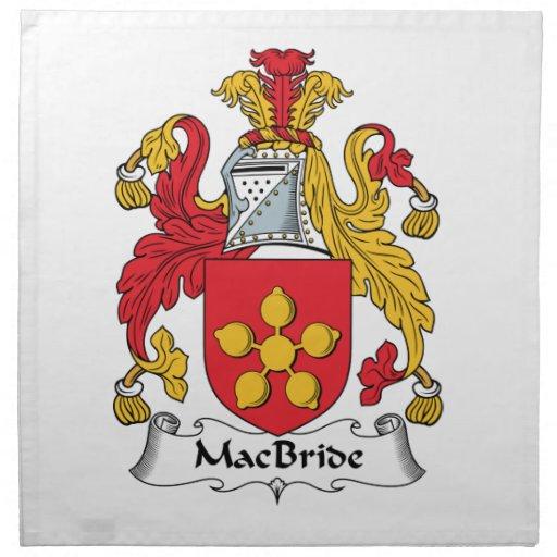 Escudo de la familia de MacBride Servilleta