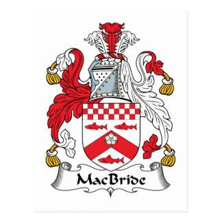 Escudo de la familia de MacBride Tarjetas Postales