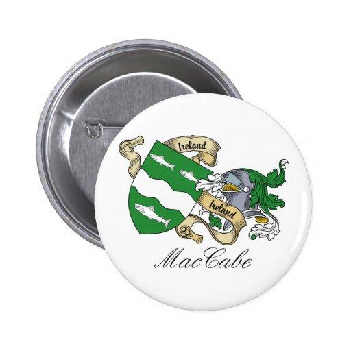 Escudo de la familia de MacCabe Pin Redondo 5 Cm