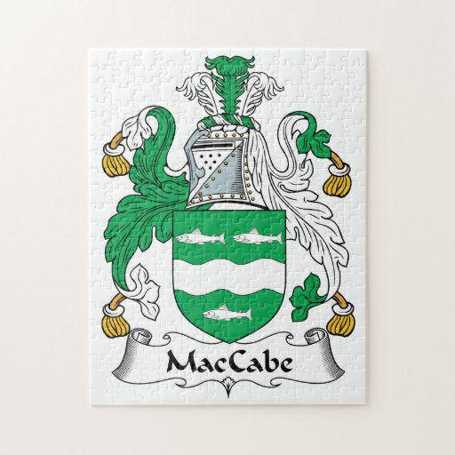 Escudo de la familia de MacCabe Rompecabeza Con Fotos