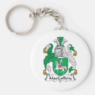 Escudo de la familia de MacCaffery Llavero Redondo Tipo Pin