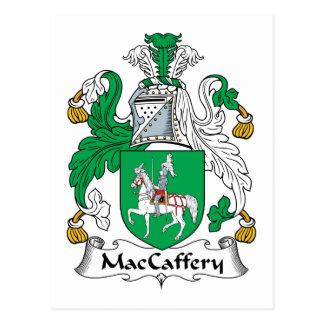 Escudo de la familia de MacCaffery Tarjeta Postal