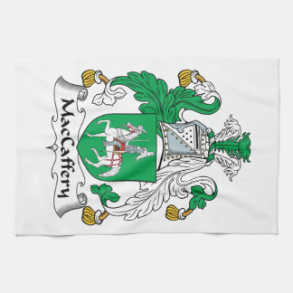 Escudo de la familia de MacCaffery Toallas