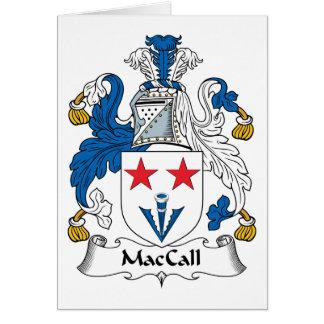Escudo de la familia de MacCall Tarjeta De Felicitación