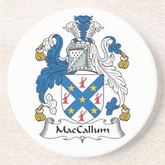 Escudo de la familia de MacCallum Posavasos Cerveza
