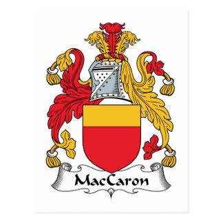 Escudo de la familia de MacCaron Tarjeta Postal