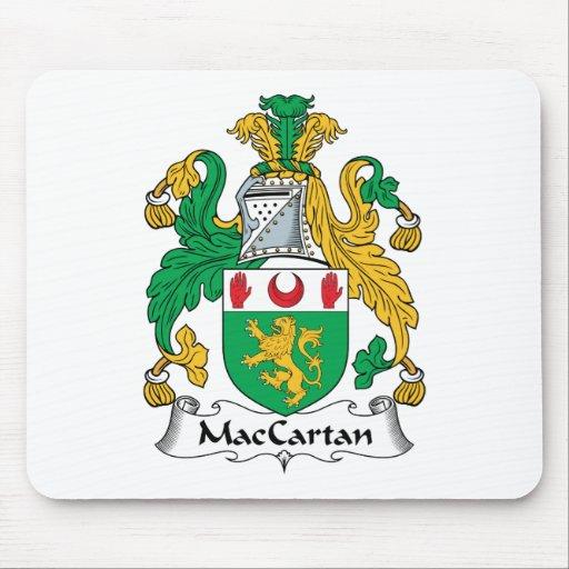 Escudo de la familia de MacCartan Alfombrillas De Raton