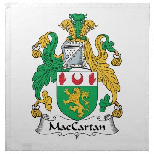 Escudo de la familia de MacCartan Servilleta De Papel