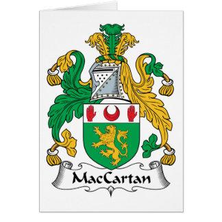 Escudo de la familia de MacCartan Tarjeta De Felicitación