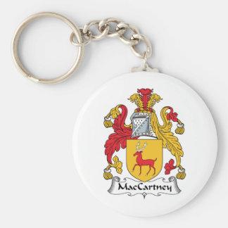 Escudo de la familia de MacCartney Llavero Redondo Tipo Pin