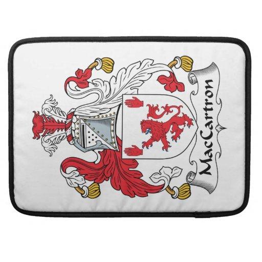Escudo de la familia de MacCartron Fundas Macbook Pro