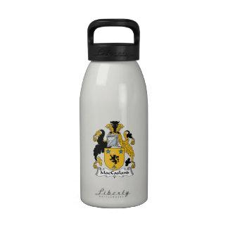 Escudo de la familia de MacCasland Botellas De Agua Reutilizables