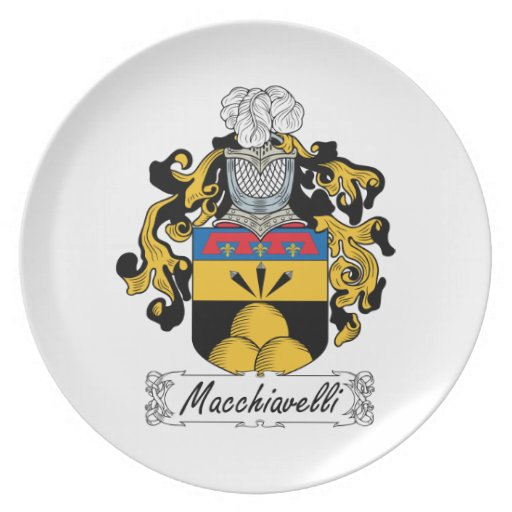 Escudo de la familia de Macchiavelli Platos Para Fiestas