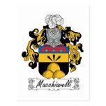Escudo de la familia de Macchiavelli Postal
