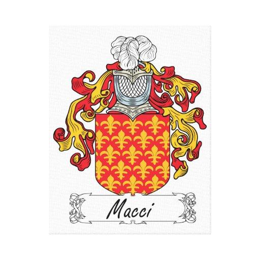 Escudo de la familia de Macci Lienzo Envuelto Para Galerías