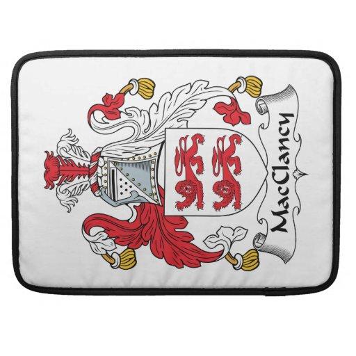 Escudo de la familia de MacClancy Fundas Para Macbook Pro