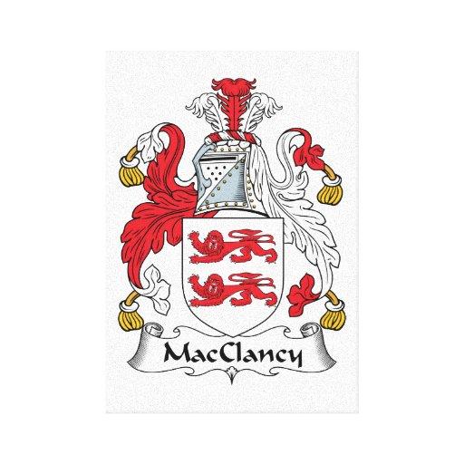 Escudo de la familia de MacClancy Impresion En Lona