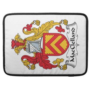 Escudo de la familia de MacClelland Fundas Para Macbooks