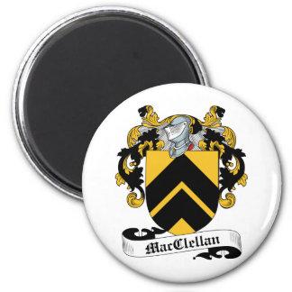 Escudo de la familia de MacClelland Imán Redondo 5 Cm