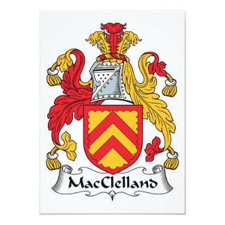 """Escudo de la familia de MacClelland Invitación 5"""" X 7"""""""