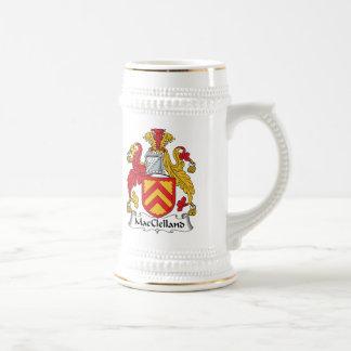 Escudo de la familia de MacClelland Jarra De Cerveza